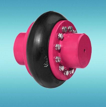 Acoplamento flexível tipo pneu