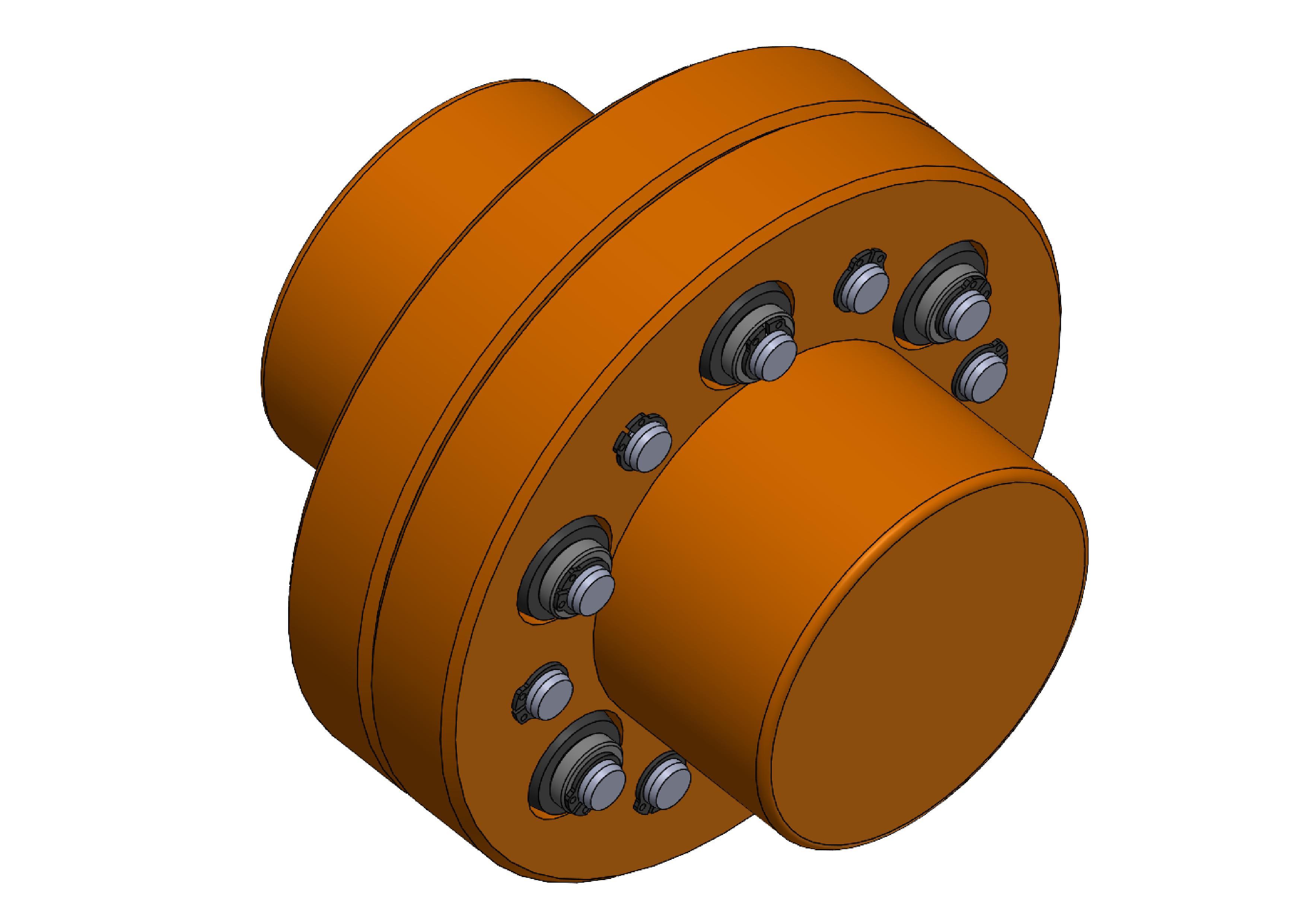 Acoplamento de motor elétrico